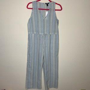 NWT Anthropologie Drew Linen Jumpsuit Size XS